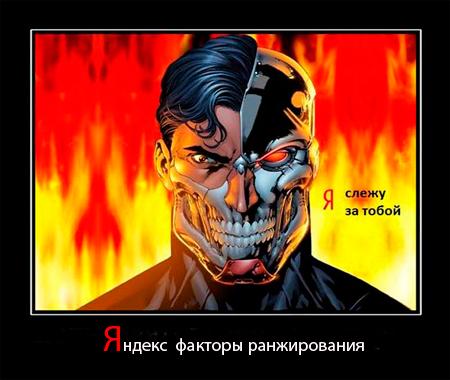 Факторы ранжирования сайтов Яндексом